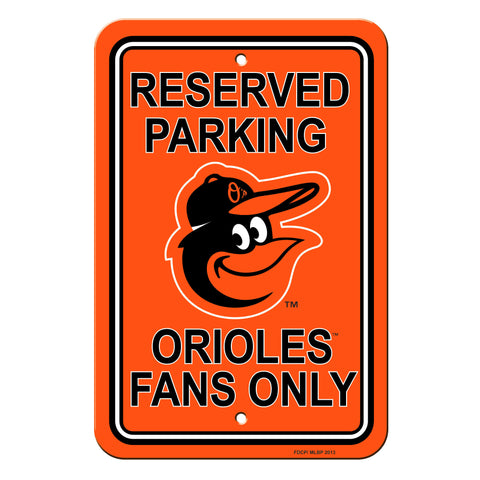 Baltimore Orioles Sign Reserved Parking Sign 12x18""