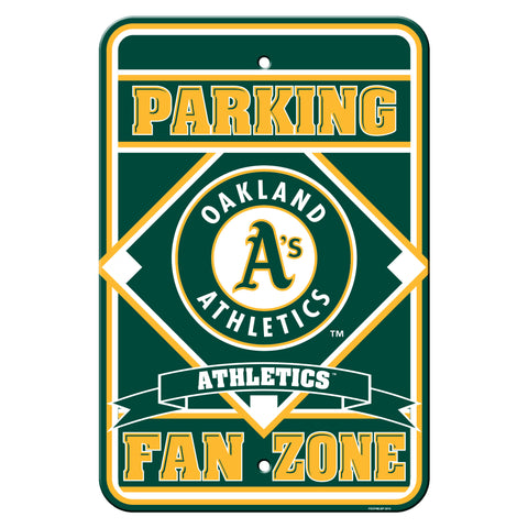 Oakland Athletics Sign Parking Sign 12x18""