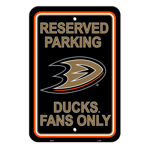 Anaheim Ducks Sign Reserved Parking Sign 12x18""
