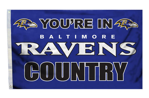 Baltimore Ravens Country 3x5' Flag