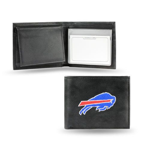 Buffalo Bills Emboidered Leather Bi-Fold Wallet