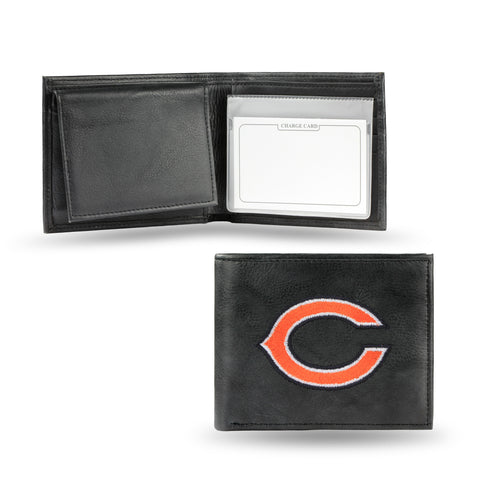 Chicago Bears Emboidered Leather Bi-Fold Wallet