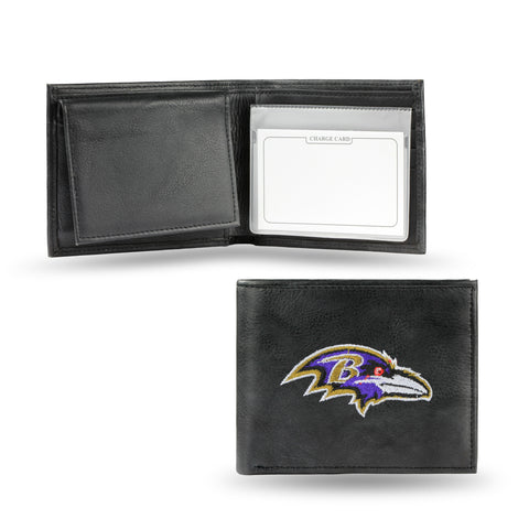 Baltimore Ravens Emboidered Leather Bi-Fold Wallet