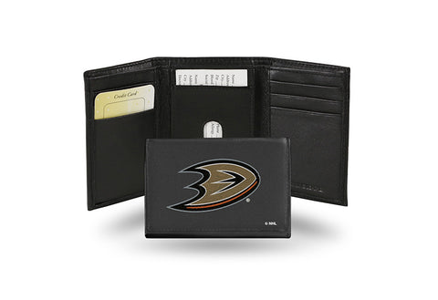 Anaheim Ducks Embroidered Leather Tri-Fold Wallet