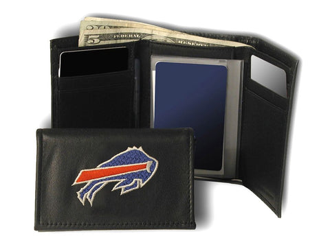 Buffalo Bills Embroidered Leather Tri-Fold Wallet