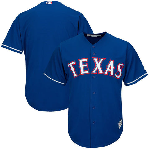 Texas Rangers Majestic Athletic Cool Base Blue Jersey
