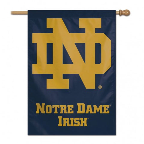 Notre Dame Fighting Irish Banner 28x40 Vertical