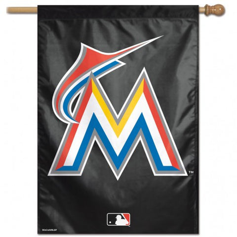 Miami Marlins Banner 28x40 Vertical Logo Design