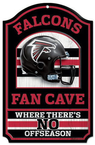 "Atlanta Falcons 11x17"" Wooden Fan Cave Sign"