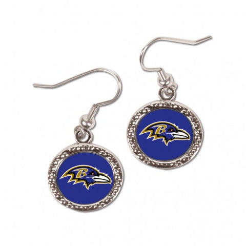 Baltimore Ravens Earrings Round Style