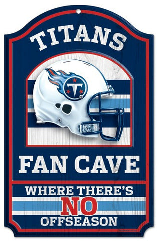"Tennessee Titans 11x17"" Wooden Fan Cave Sign"