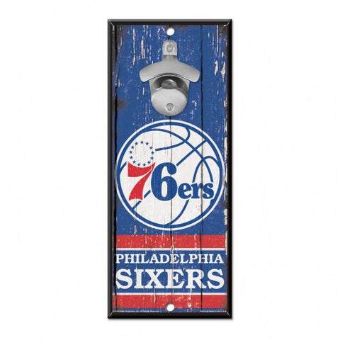 Philadelphia 76ers Wood Bottle Opener 5x11""
