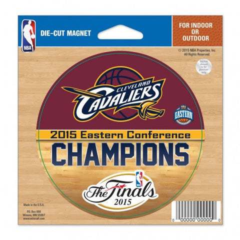 Cleveland Cavaliers 4.5x6 Die Cut Magnet - '15 East Conference Champs