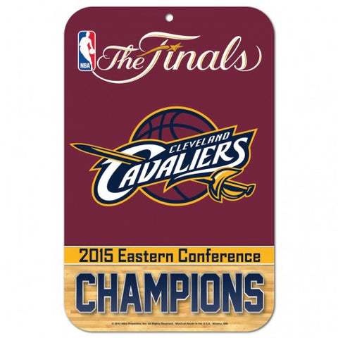 "Cleveland Cavaliers 11x17"" Reserved Parking Sign - '15 East Conference Champs"