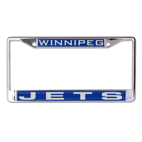 Winnipeg Jets License Plate Frame - Inlaid