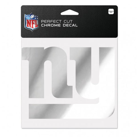 New York Giants Perfect Cut Chrome Decal 6x6""