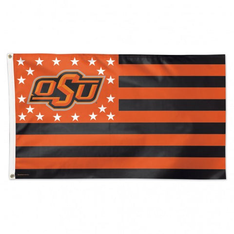 Oklahoma State Cowboys Beavers Deluxe 3x5 Americana Flag