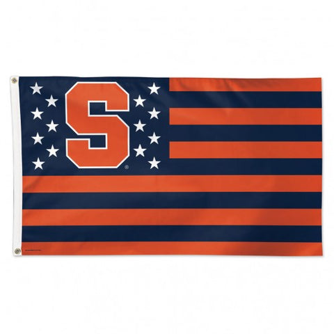 Syracuse Orange Deluxe 3x5 Americana Flag