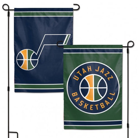 Utah Jazz Flag 12x18 Garden Style 2 Sided