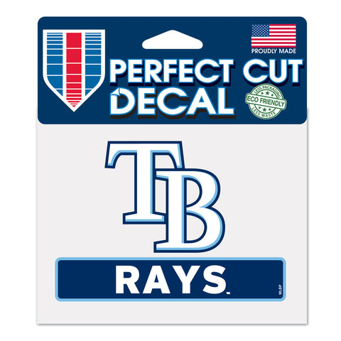 Tampa Bay Rays Perfect Color Decal 4.5x5.75""