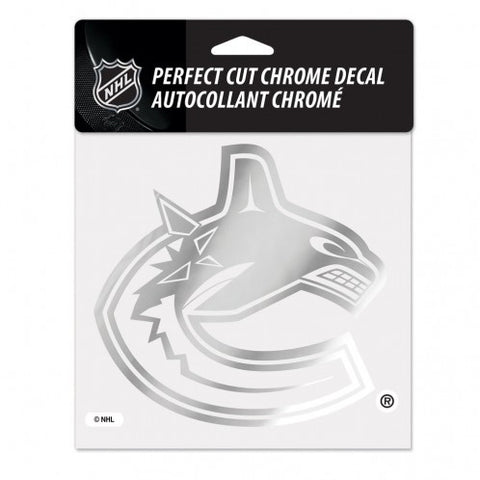Vancouver Canucks Decal 6x6 Perfect Cut Chrome