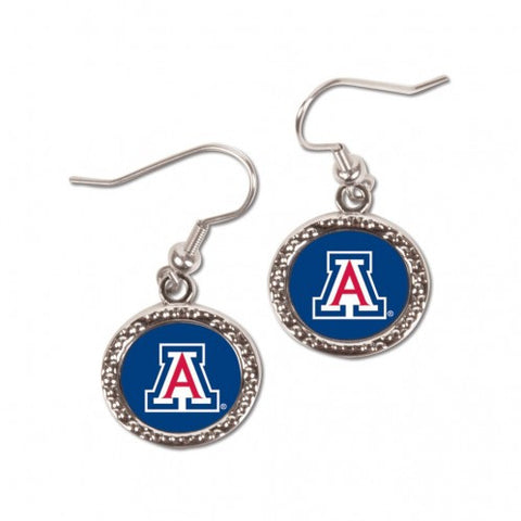 Arizona Wildcats Earrings Round Style
