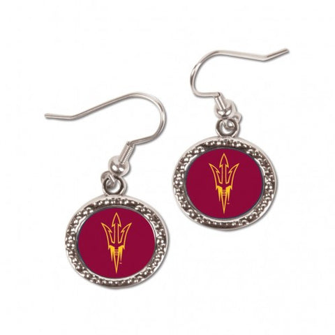 Arizona State Sun Devils Earrings Round Style