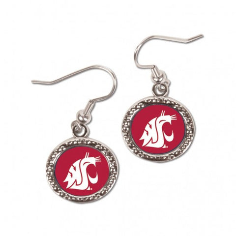 Washington State Cougars Earrings Round Style