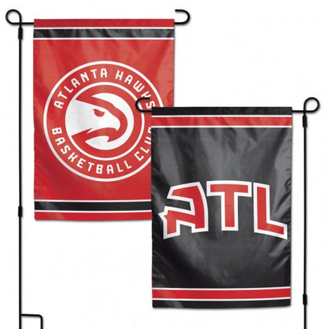 Atlanta Hawks Flag 12x18 Garden Style 2 Sided