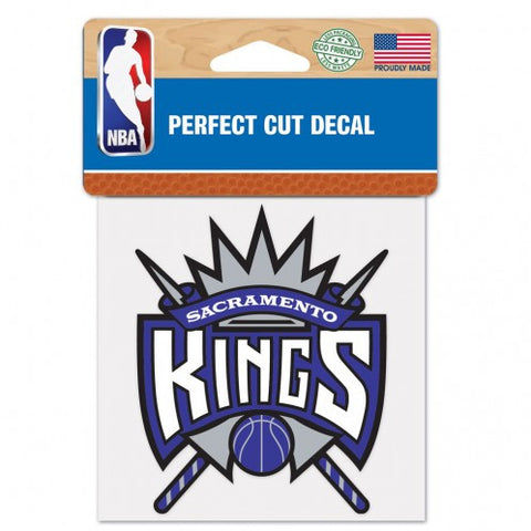 Sacramento Kings Decal 4x4 Perfect Cut Color