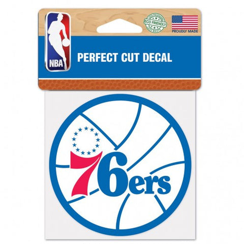 Philadelphia 76ers Perfect Cut Color Decal 4x4""
