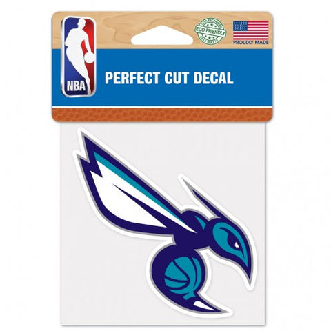 Charlotte Hornets Decal 4x4 Perfect Cut Color