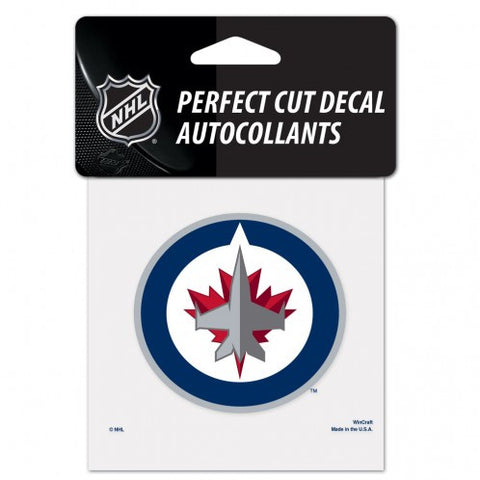 Winnipeg Jets Decal 4x4 Perfect Cut Color