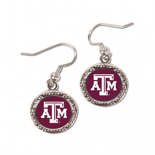 Texas A&M Aggies Earrings Round Style