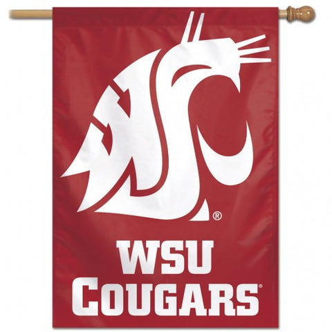 Washington State Cougars Banner 28x40 Vertical Second Alternate Design