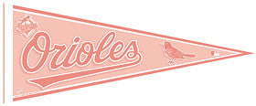 Baltimore Orioles Pennant - Pink