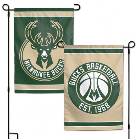 Milwaukee Bucks Flag 12x18 Garden Style 2 Sided