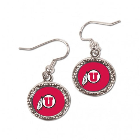 Utah Utes Earrings Round Style