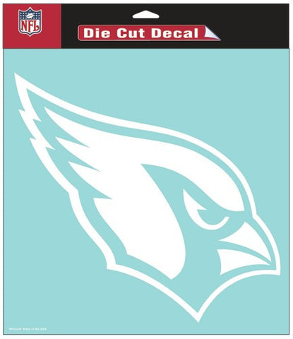 Arizona Cardinals White Die Cut Decal 8x8""