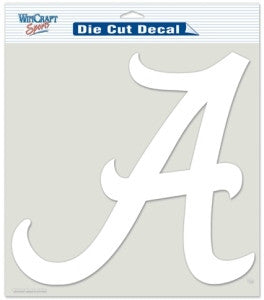 Alabama Crimson Tide White Die Cut Decal 8x8""