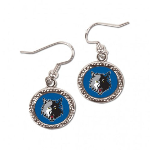 Minnesota Timberwolves Earrings Round Style