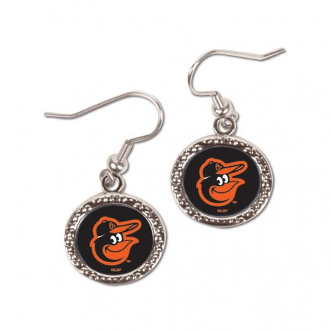 Baltimore Orioles Earrings Round Design