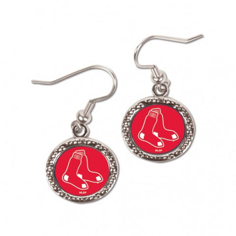 Boston Red Sox Earrings Round Design