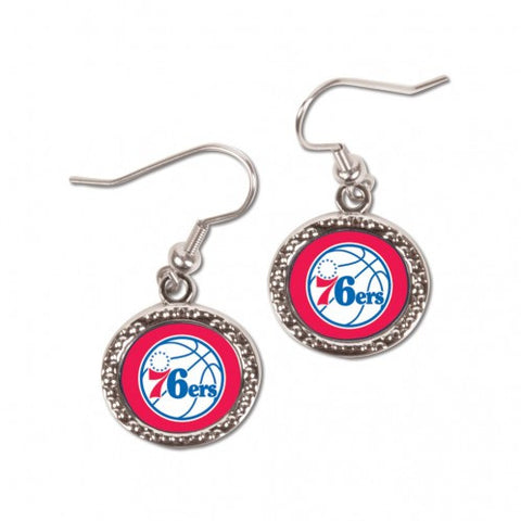 Philadelphia 76ers Earrings Round Style