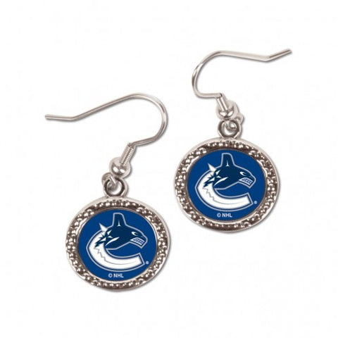 Vancouver Canucks Earrings Round Style