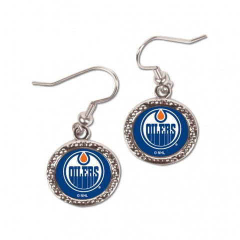 Edmonton Oilers Earrings Round Style