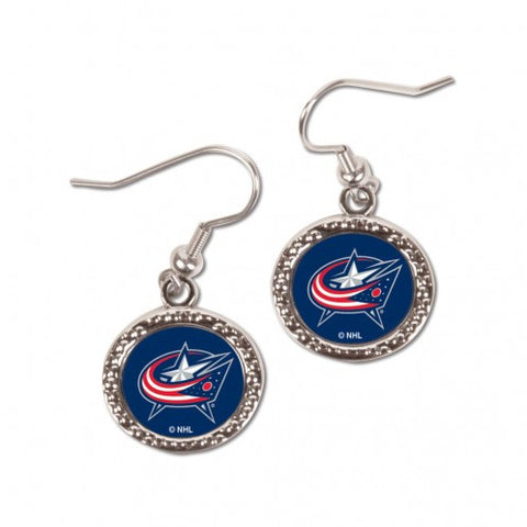 Columbus Blue Jackets Earrings Round Style