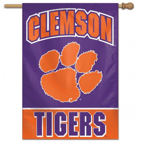 Clemson Tigers Banner 28x40 Vertical Alternate Design