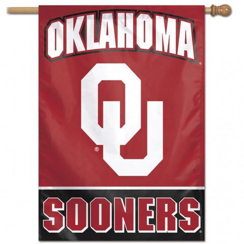 Oklahoma Sooners Banner 28x40 Vertical Alternate Design