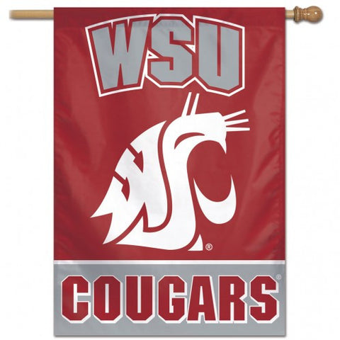 Washington State Cougars Banner 28x40 Vertical